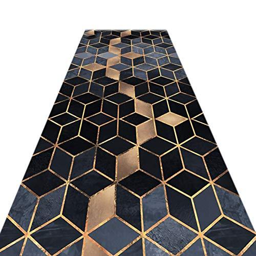 JIAJUAN Läufer Teppiche Flur Weich Rutschfest Wohnzimmer Küche Tür Eng Passage Matte, 7mm, 2 Farben, Mehrere Längen, Anpassbar (Farbe : B, größe : 0.6x2m)