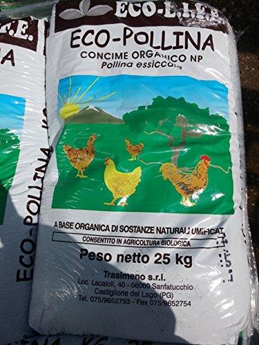eco pollina concime organico np concime per agricoltura biologica 25 kg
