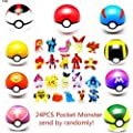 sqzkzc 9pcs Ball Pokemon Master Great Ultra GS Pokeballs + 24pcs Action Figures Cosplay Pop-up Ball Kid Toys Plastic Super Anime Pikachu Pokeball Figure Variable Bouncing Child por China
