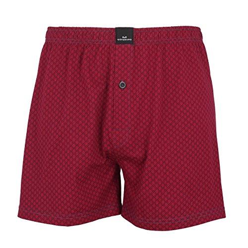 GÖTZBURG Herren Boxershort, Unterhose, Shorts - Boxers - Baumwolle, Single Jersey, rot, minimal, mit Eingriff 6 (Jersey Shorts Boxer)