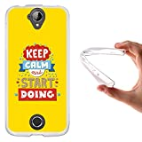 WoowCase Acer Liquid Z330 Hülle, Handyhülle Silikon für [ Acer Liquid Z330 ] Keep Calm and Start Doing Handytasche Handy Cover Case Schutzhülle Flexible TPU - Transparent