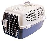 BPS (R) Transportín Rígido para Perro o Gato, Animales Domésticos, Tamaño: 55 x 35 x 32 cm. (Azul oscuro)