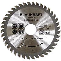 Hoja de sierra para ANGULADORA 115mm para madera Discos de corte circular 115x22x40T