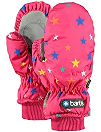 Barts Babyhandschuhe Fäustlinge wasserdicht Nylon mit Sternen PINK 2-3 Jahre