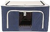 UberLyfe Blue 55L 55L Foldable Cloth Storage Box with Steel Frames - 1pc (UW-474-BLCS55L)