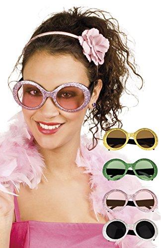 Faschingsfete Oversize Flower Hippie Brille Sonnenbrille Kostüm, -