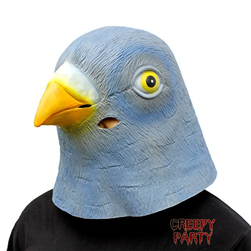 CreepyParty Deluxe Neuheit-Halloween-Kostüm-Party-Latex-Tierkopf-Schablone Masken Tauben