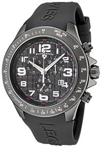 Swiss Legend sl-30041-gm-014 - Reloj cronógrafo de cuarzo para hombre con correa de silicona, color gris de Swiss Legend