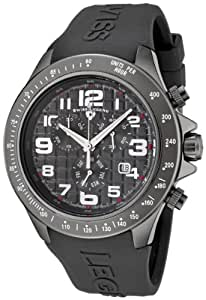 Swiss Legend Eograph Men's Quartz Watch with Grey Dial Chronograph Display and Grey Silicone Strap sl-30041-gm-014