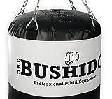 DBX Bushido Sacco pieno 40 kg sacco boxe con catene dimensioni140 x 40 cm
