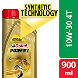 Castrol POWER1 4T 10W-30 API SL Synthetic Engine Oil for Bikes (900ml)