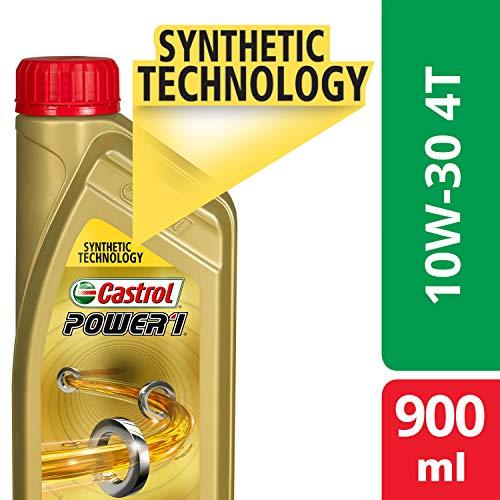 Castrol POWER1 4T 10W-30 API SL Synthetic Engine Oil for Bikes (900ml)