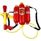 Homyl Kinder Feuerwehr Wasserspritze Wasserpistole Rucksack, Sommer Strand Spielzeug für Kinder