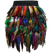 Rcool Falda Corta Faldas Faldas Mujer Invierno Faldas largas Falda Flamenca Mujer,Mini Falda de