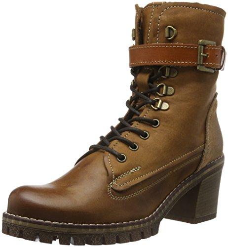 MANASCERVIA - Stivali a metà gamba con imbottitura pesante  Donna , Marrone (Braun (Terra+Legno+Cuoio)), 41 EU