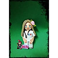 Broche Enfermera fofucha 10 cms. personalizado