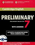 Cambridge Preliminary English Test 7 / Student's Book Pack (Student's Book with answers and 2 Audio CDs)