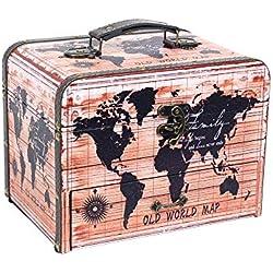 Vidal Regalos Caja Costura Polipiel Mapamundi 26 cm