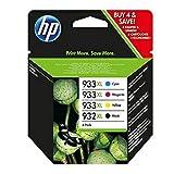 HP original - HP - Hewlett Packard OfficeJet 7510 WF (932XL933XL / C 2 P 42 AE#301) - Tintenpatrone MultiPack black cyan magenta