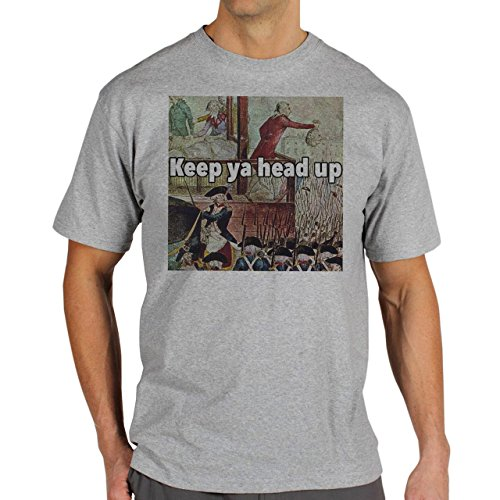 Aristocrat Quotes Keep Ya Head Up Background Herren T-Shirt Grau