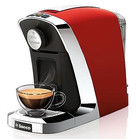 Tchibo Saeco Cafissimo Tuttocaffé Kapselmaschine (für Kaffee, Espresso, Caffé Crema und Tee) rot