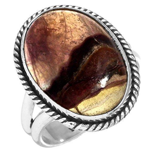 Solide 925 Sterling Silber Sammlerstück Schmuck Natürliche Blau John Edelstein Ring Größe 54 (17.2)