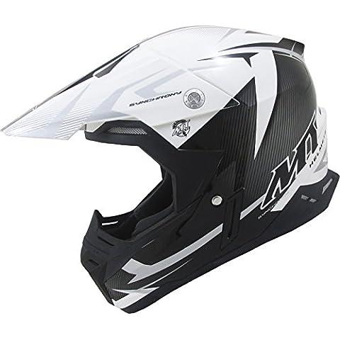 MT Synchrony Steel Motocross Helmet XL Black White Grey