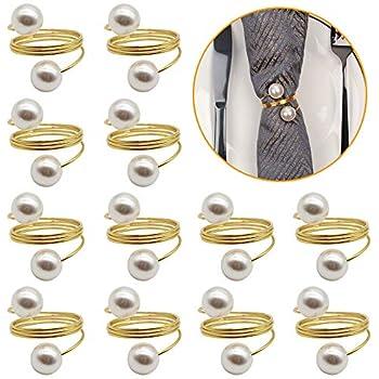 Millster Goldener Serviettenring Whirly Alloy Serviettenschnallenhalter F/ür Hochzeitshotel-Esstischdekoration