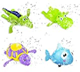 #1: Jiada Pool Float Wind Up Bath Toys | Wind Up Swimming Bathtub Animal Toys Playset for Toddlers | Set Of 4 | ABS Material