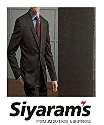 Siyarams Self Design Black Suit Fabric 1Pc 3.25 Meter.This Item Not includes Gift Box.