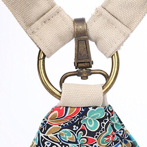 Chang Spent borsa di tela nazionale del vento viaggio tracolla zaino Le nuove donne (piccolo) , L L