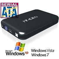 """IT735U3 e-SATA / USB 3.0 Caja externa de unidad de disco duro de 3,5 """" SATA con cable USB3- Negro"""