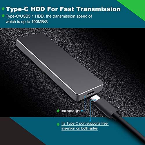 Wooge Disco Duro Externo 2tb USB 3.1 Disco Duro Externo para Mac,  PC,  PS4, MacBook,  Chromebook,  Xbox (2tb,  Plata)