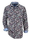 BABISTA Herren Hemd Baumwolle mit modischem Druckmuster 47/48 Blue