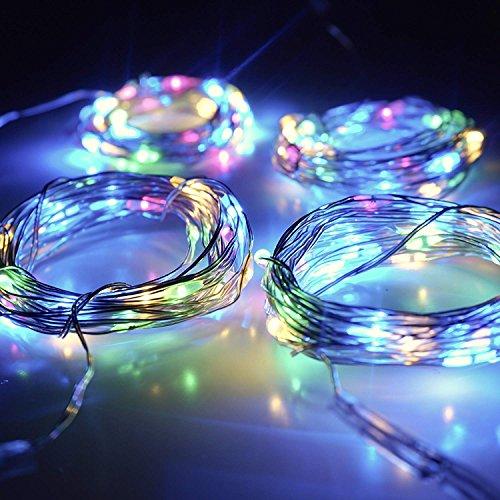 【10 pezzi】 SiFar 20 LED 2M Mini Lampada a fili di rame Multicolore, Luci stringa LED Luci d'atmosfera Bottiglia di vino, Luci stellate alimentate a batteria per bottiglie Fai da te, feste - 6