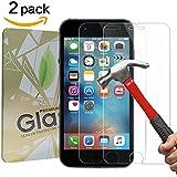 [2 Pack] Verre Trempé iPhone 6 Plus / 6s Plus, GYOYO Protecteur d'écran iPhone 6 Plus écran protection iPhone 6s Plus haute transparence et ultra résistant et incassable écran,Sans Bulles pour iPhone 6 Plus / 6s Plus