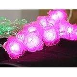 PragAart 7 Meter Flowers And Leaves LED String Light For Diwali Christmas Home Decoration (Rose LED Flowers & Leaves)