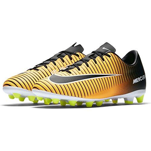 Nike Jr. Mercurial Vapor XI (AG) Kinder Fußballschuh Kunstrasen LASER ORANGE/BLACK-WHITE-VOLT (32) (Für Kinder Nike Gelbe Schuhe)
