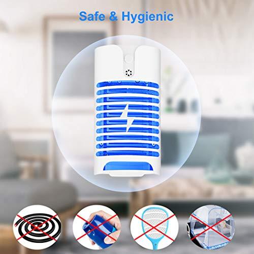 W&HH Mückenlampe mit Lichtsensor, Mückenlampe mit tragbarer UV-Gitterlampe, ohne chemische Toiletten, geräuschlos -
