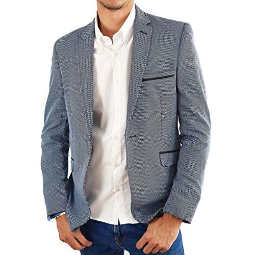 mackten - Veste costume homme ciel Bleu
