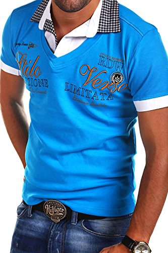 MT Styles 2in1 Poloshirt WI-VERSO T-Shirt R-2346 Türkis