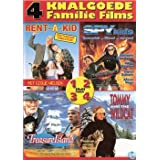 Family Films Collection - 4-DVD Box Set ( Rent-a-Kid / Treasure Island / Spy Kids / Tommy and the Wildcat (Poika ja ilves) ) by Leslie Nielsen