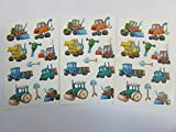 Digger Stickers - Kids / Childrens Labels for party bags , scrap books , card making or notebook decoration