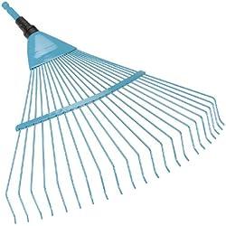 Balai à gazon Combisystem de GARDENA : balai en éventail pour le nettoyage et l'aération du gazon recouvert de mousse, avec dents métalliques robustes, revêtement Duroplast, largeur de travail 50 cm (3100-20)