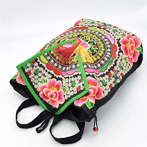 Damemädchensegeltuch-Rucksack Gedruckt Ethnic Schule Shouldre Tasche Reisetasche Multicolor 01