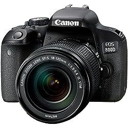 Canon EOS 800D Reflex numérique + EF-S 18-135mm F/3.5-5.6 IS STM - Noir