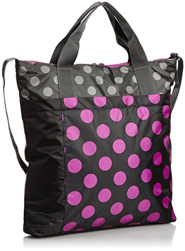 Puma Damen Avenue Shopper Umhängetasche Black/Vivid Viola/Dot Graphic