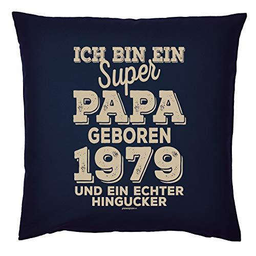 Veri zum 40. Geburtstag Jahrgang geboren 1979 Papa Geschenk für Ihn Mann Deko Kissenbezug Papa HINGUCKER Print Text Geburtstagsgeschenk Kissenhülle 40x40 cm : (Deko-ideen 40. Geburtstag)
