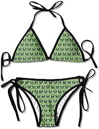 328e2e829b22 Zcfhike Women's Rboston Heads Glasses Green Shop Preview Sexy Bikini  Swimsuit Suit Set