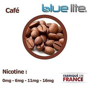 E-Liquide français bluelite Arome Cafe 20ml pour cigarette éléctronique sans nicotine